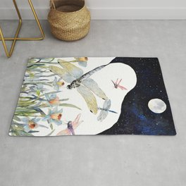 Good Night Surreal Dragonfly Artwork Rug