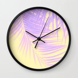 Palm Leaves Summer Vibes #2 #tropical #decor #art #society6 Wall Clock