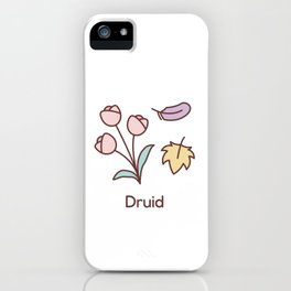 Cute Dungeons and Dragons Druid class iPhone Case