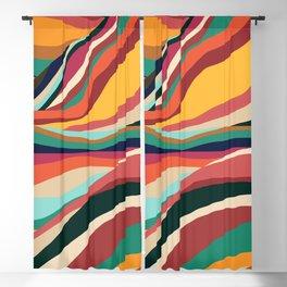 Rainbow Mountains Blackout Curtain