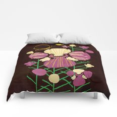 Floral Flower Artprint Comforters