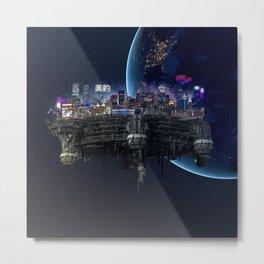 The Space City   Spaceship Metal Print