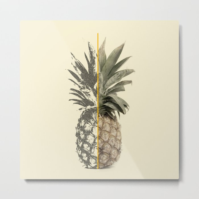 Double Pineapple Metal Print