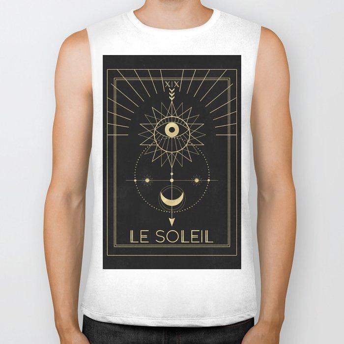 Le Soleil or The Sun Tarot Biker Tank