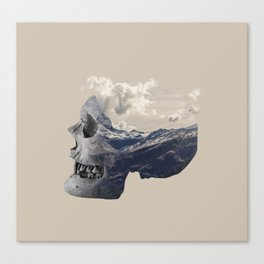 Mountain Skull Face Canvas Print