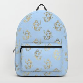 Elegant Gold Mermaid Pattern Backpack