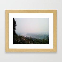 Hazey River Valley (Color) Framed Art Print