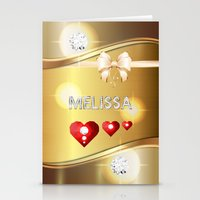 melissa smith Stationery Cards featuring Melissa 01 by Daftblue