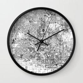 Phoenix White Map Wall Clock