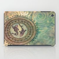 pisces iPad Cases featuring Pisces by Jen Hallbrown