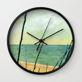 Branches on the Beach Wall Clock