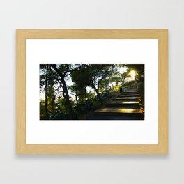 Path to Lycabettus  Framed Art Print