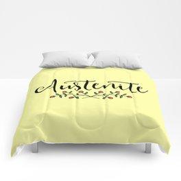 Jane Austen Floral Austenite Comforters