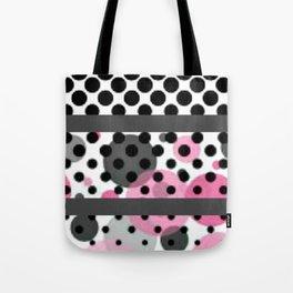 Design Pink and Black Tote Bag