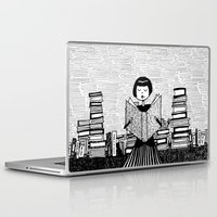 bookworm Laptop & iPad Skins featuring Bookworm by kate gabrielle