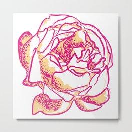 Beautiful Floral Illustration Metal Print