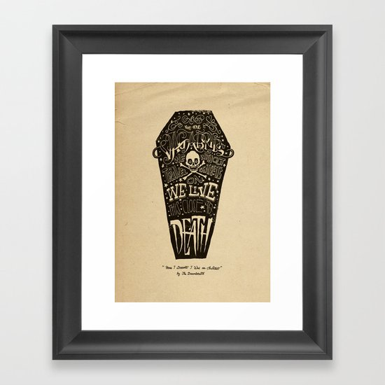 Lyrics & Type Framed Art Print