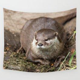 Sunning Otter Wall Tapestry
