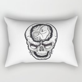 FETUS SKULL Rectangular Pillow