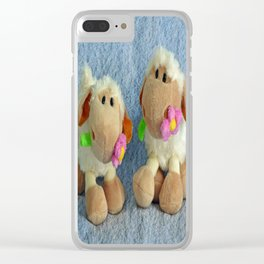 Little Lambs Clear iPhone Case