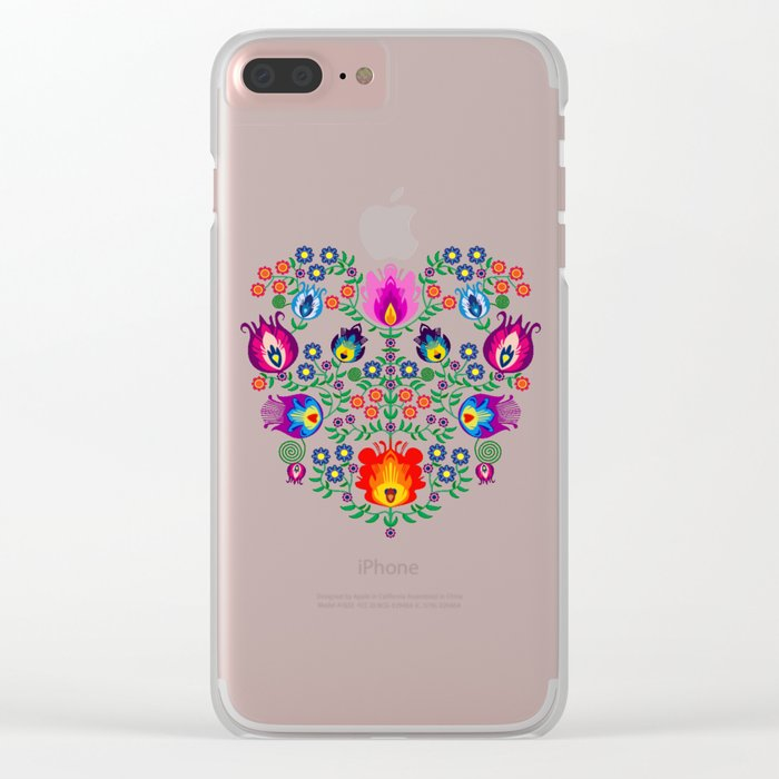 Folk Pattern - Flower Clear iPhone Case