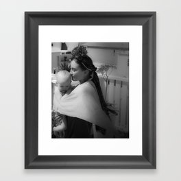 Frida & Babe Framed Art Print