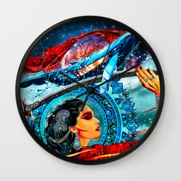 Girl with a sword Wall Clock