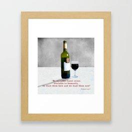 Glass of Wine Framed Art Print