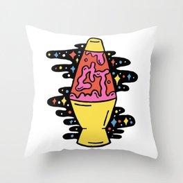 Lit Lava Lamp Throw Pillow