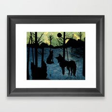 foxlight coldnight Framed Art Print