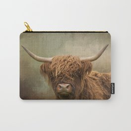 Scottish Highland Cow Art Carry-All Pouch