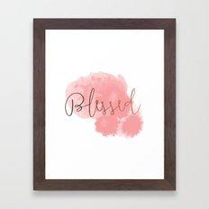 Blessed #society6 #decor #buyart Framed Art Print