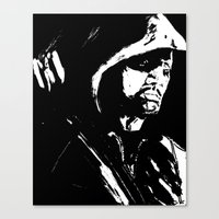 green arrow Canvas Prints featuring Arrow by Seth House
