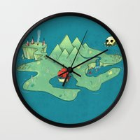 neverland Wall Clocks featuring Neverland by Quinn Shipton