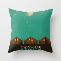 moonrise kingdom Throw Pillows featuring MOONRISE KINGDOM by VAGABOND