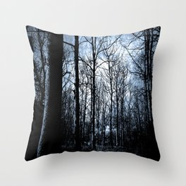 The Haunted Wood  Throw Pillow