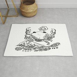 CANCER - crab - zodiac doodle series Rug
