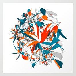 Rebellion: abstract digital art fashionable modern colors Art Print