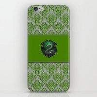 slytherin iPhone & iPod Skins featuring Slytherin House by Sarah and Bree