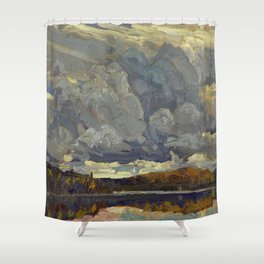 Tom Thomson Grey Sky 1914 Canadian Landscape Artist Shower Curtain