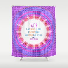 Emerge into the Light Shower Curtain