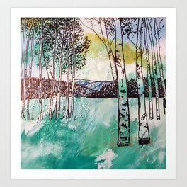 Rocky Mountain Aspen Trees Art Print