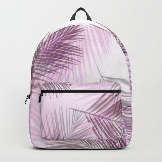 Pink Palm Leaves Backpack