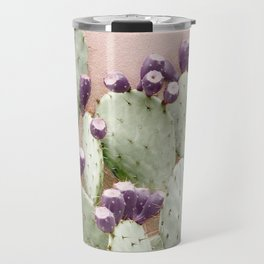 Cactus Against Stucco Wall Travel Mug