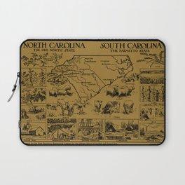 Vintage Map of The Carolinas (1912) - Tan Laptop Sleeve