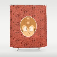 megaman Shower Curtains featuring Megaman by Kuki