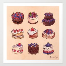 Forest Cakes Art Print