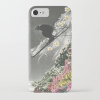 skiing iPhone & iPod Cases featuring Spring Skiing by Sarah Eisenlohr