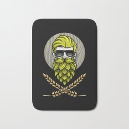 Green Hops Beard - Beer Style - Hops Fashion Bath Mat