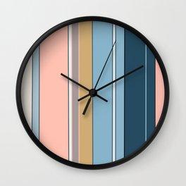 Botanic stripes Wall Clock